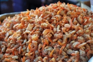 Camarones secos / Dried shrimp. Barrio chino / Chinatown.
